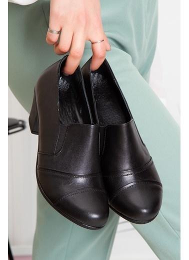 Derithy Lupın Hakıkı Derı Ayakkabı-Sıyah-Erc0100 Siyah